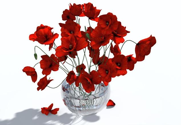 2-vase-coquelicot-3D-objet-model-highpoly-poppy-artlantis-obj-aof