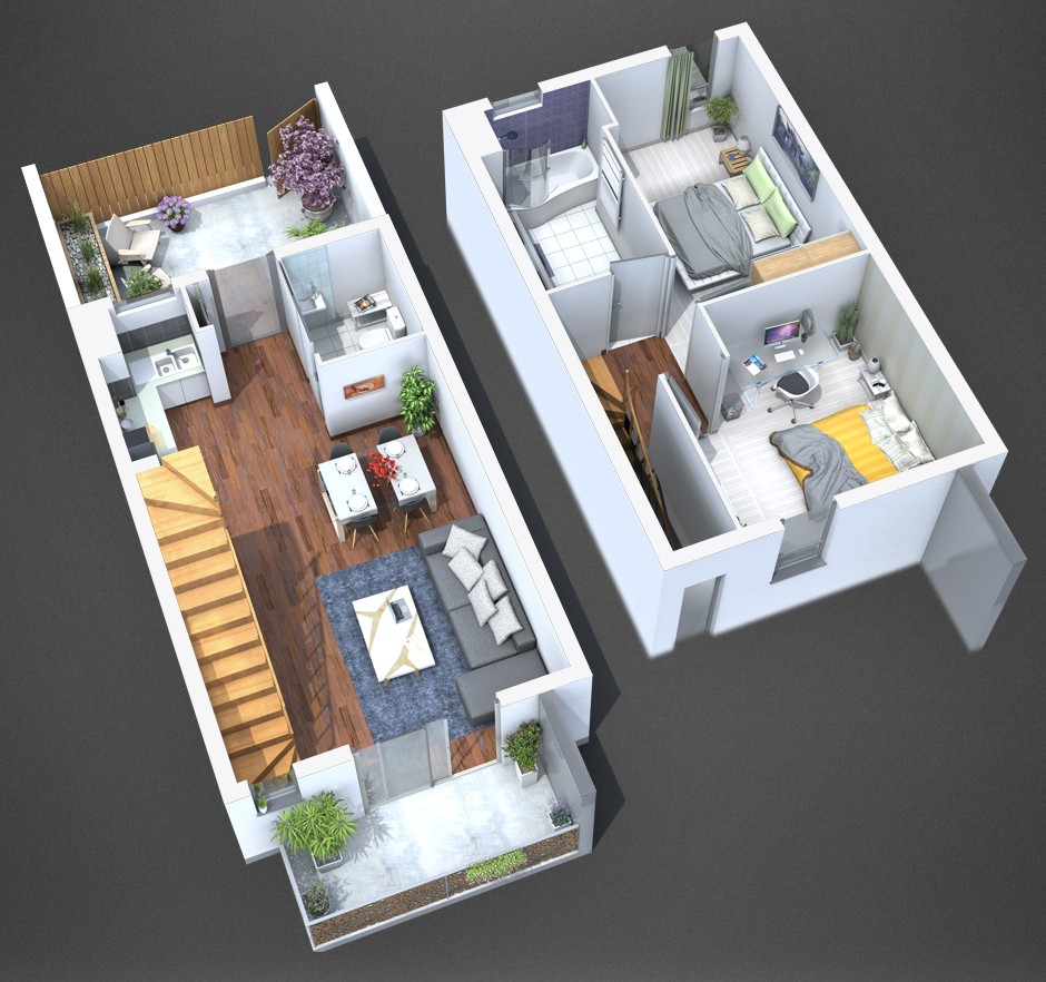 Plan de vente appartement puilboreau for Appartement design plan