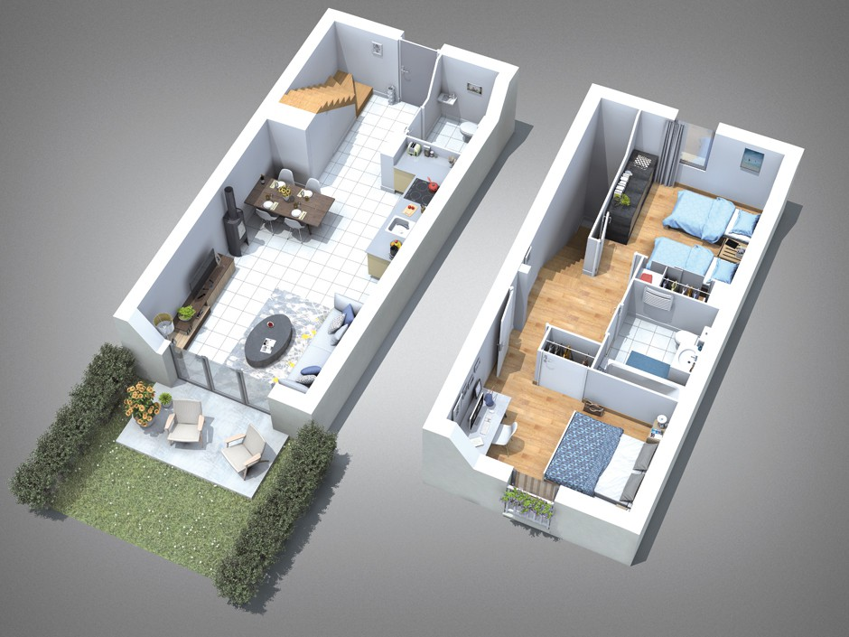 Plan de vente royal atlantique for Plan maison t3